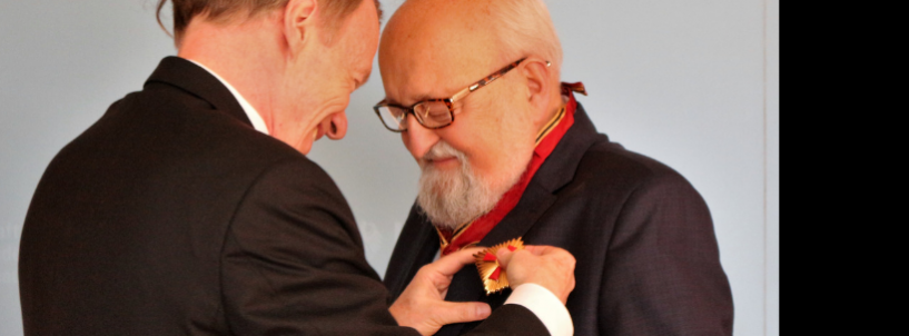 Krzysztof Penderecki nagrodzony Wielkim Krzyżem Zasługi z Gwiazdą