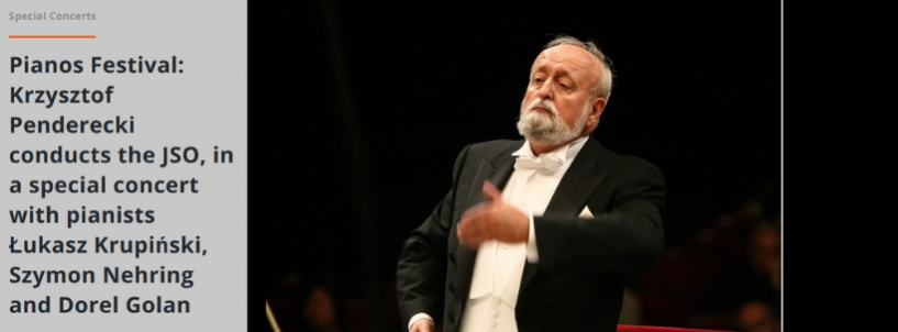 Special concert with Łukasz Krupiński, Szymon Nehring and Krzysztof Penderecki