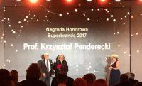 Krzysztof Penderecki odebrał Nagrodę Honorową Superbrands przyznawaną za szczególne zasługi dla promocji Polski w świecie